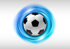 Symbole du football Photos stock