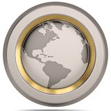 Symbole du globe 3D sur le fond blanc illustration 3D illustration stock