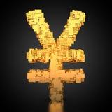 Symbole du ¡ n de Yuà de Chinois avec la texture de technologie Photographie stock libre de droits