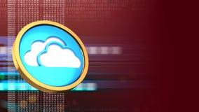 symbole du nuage 3d Photos libres de droits