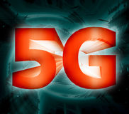 symbole du réseau 5G Photo libre de droits