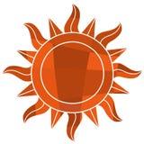 Symbole du soleil de mosaïque Photos libres de droits