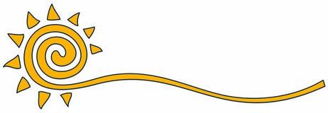 Symbole du soleil lumineux illustration de vecteur