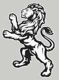 Lion fier debout illustration stock