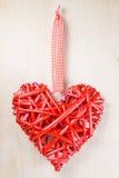 Symbole en bois décoratif de coeur Image libre de droits