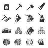 Symbole en bois de vecteur d'icône photographie stock