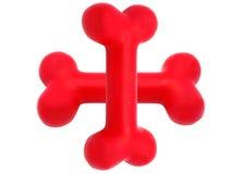 Symbole en caoutchouc d'os de crabot Photographie stock