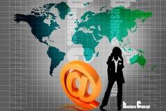 Symbole et femmes d'affaires Images stock