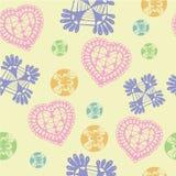 Symbole et graphisme colorés de coeurs pour le Saint Valentin Photographie stock