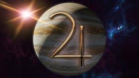 Symbole et planète d'horoscope de zodiaque de Jupiter rendu 3d Photos stock