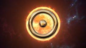 Symbole et planète d'horoscope de zodiaque de Sun rendu 3d Photographie stock libre de droits