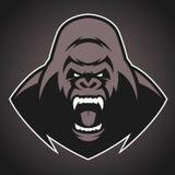 Symbole fâché de gorille illustration libre de droits