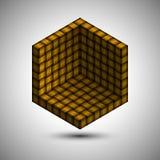 Symbole faisant le coin de boîte avec la texture entrelacée Image stock