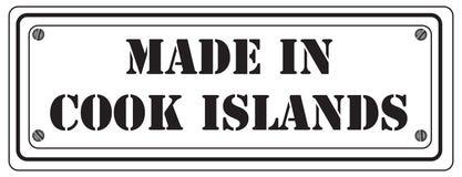 Symbole fait dans le cuisinier Islands Photo libre de droits