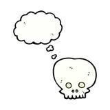 symbole fantasmagorique de crâne de bande dessinée avec la bulle de pensée Photographie stock