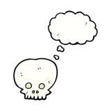 symbole fantasmagorique de crâne de bande dessinée avec la bulle de pensée Photographie stock libre de droits