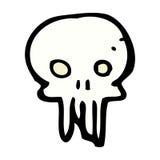 symbole fantasmagorique de crâne de bande dessinée comique Photo libre de droits