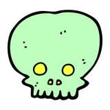 symbole fantasmagorique de crâne de bande dessinée comique Image libre de droits