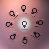 Symboles de genre Photo libre de droits