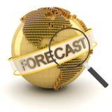 Symbole financier global de prévision avec le globe, 3d illustration libre de droits
