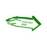 Symbole flamboyant de flèche Icône ou logo isométrique plate 3D style Pict illustration stock