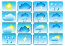 Symbole für Wetter. Lizenzfreie Stockfotos