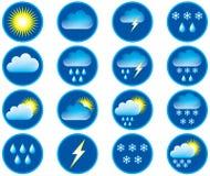 Symbole für Wetter. Lizenzfreie Stockfotografie