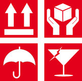 Symbole fragile Photos libres de droits