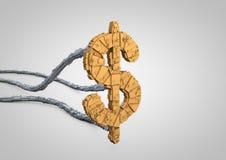Symbole futuriste du dollar Photos libres de droits