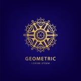 Symbole géométrique abstrait de vecteur Alchimie linéaire, signe occulte et philosophique Pour l'affiche, insecte, conception de  Image stock