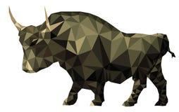 Symbole géométrique de tendance du marché de polygone de Taureau Photos stock