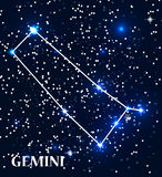 Symbole Gemini Zodiac Sign Illustration de vecteur Photographie stock libre de droits