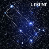 Symbole Gemini Zodiac Sign Illustration de vecteur Photo libre de droits