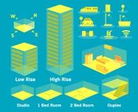 Symbole graphique d'infos de logement Images stock