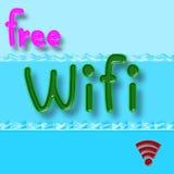 Symbole gratuit de wifi Image libre de droits