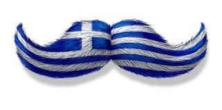 Symbole grec de moustache Photographie stock libre de droits