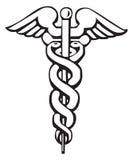 symbole grec de signe de caducée Photos stock