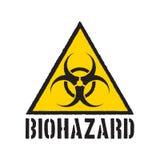 Symbole grunge de biohazard Panneau d'avertissement de Biohazard d'isolement Illustration de vecteur illustration stock