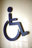 Symbole handicapé international Photos stock