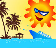 Symbole heureux de vacances Photos libres de droits