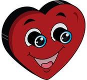 Symbole heureux et enthousiaste d'amour illustration de vecteur