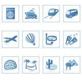 symbole ii podróży wakacji ilustracji