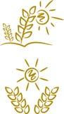 Symbole/Ikonen: Sommer-Korn (i) Stockfotografie