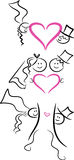symbole ikony małżeństwa Zdjęcie Royalty Free