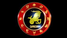 Symbole indien de zodiaque de Capricorne banque de vidéos