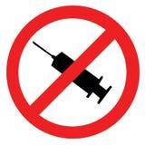 Symbole interdit de drogue illustration libre de droits