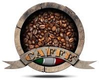 Symbole italien de café - Caffe Italiano Photos libres de droits
