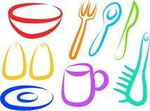 symbole kuchenne Zdjęcia Stock