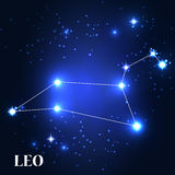 Symbole Leo Zodiac Sign Illustration de vecteur Images stock