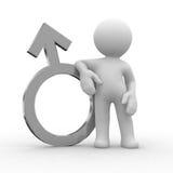 Symbole mâle en métal Photo libre de droits